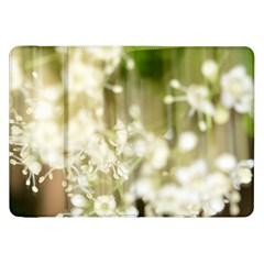 Little White Flowers Samsung Galaxy Tab 8 9  P7300 Flip Case by timelessartoncanvas