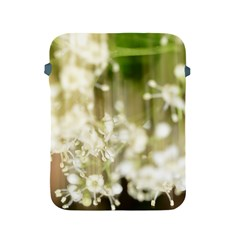 Little White Flowers Apple Ipad 2/3/4 Protective Soft Cases by timelessartoncanvas