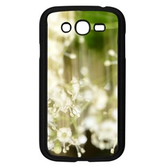 Little White Flowers Samsung Galaxy Grand Duos I9082 Case (black) by timelessartoncanvas