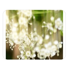 Little White Flowers Double Sided Flano Blanket (large)  by timelessartoncanvas