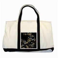 Little White Flowers 2 Two Tone Tote Bag by timelessartoncanvas