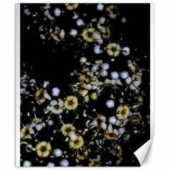 Little White Flowers 2 Canvas 20  X 24   by timelessartoncanvas