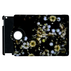 Little White Flowers 2 Apple Ipad 2 Flip 360 Case by timelessartoncanvas