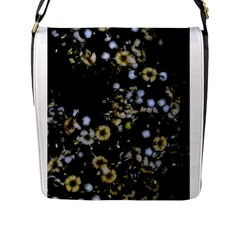 Little White Flowers 2 Flap Messenger Bag (l)  by timelessartoncanvas