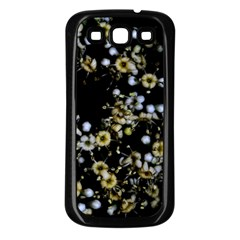 Little White Flowers 2 Samsung Galaxy S3 Back Case (black) by timelessartoncanvas