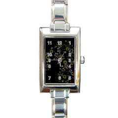 Little White Flowers 3 Rectangle Italian Charm Watch by timelessartoncanvas