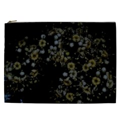 Little White Flowers 3 Cosmetic Bag (xxl)  by timelessartoncanvas