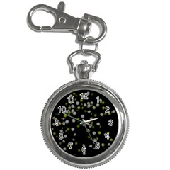 Little White And Green Dots Key Chain Watches by timelessartoncanvas