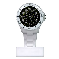Little White And Green Dots Plastic Nurses Watch by timelessartoncanvas