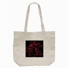 Little Pink Dots Tote Bag (cream) by timelessartoncanvas