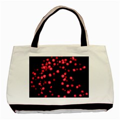 Little Pink Dots Basic Tote Bag by timelessartoncanvas
