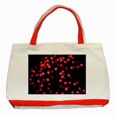 Little Pink Dots Classic Tote Bag (red) by timelessartoncanvas