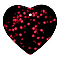 Little Pink Dots Heart Ornament (2 Sides) by timelessartoncanvas