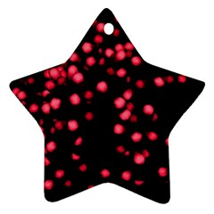 Little Pink Dots Star Ornament (two Sides)  by timelessartoncanvas
