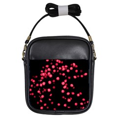 Little Pink Dots Girls Sling Bags by timelessartoncanvas