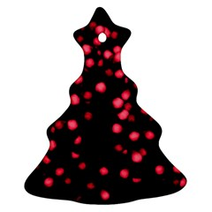 Little Pink Dots Christmas Tree Ornament (2 Sides) by timelessartoncanvas