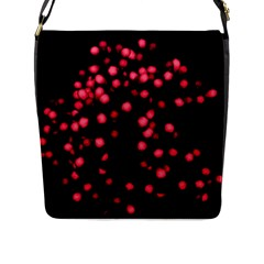 Little Pink Dots Flap Messenger Bag (l)  by timelessartoncanvas