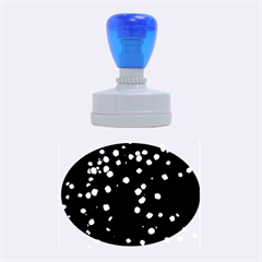 Little Blue Dots Rubber Oval Stamps