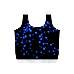 Little Blue Dots Full Print Recycle Bags (s)  by timelessartoncanvas