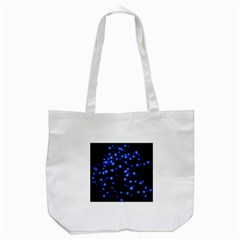 Little Blue Dots Tote Bag (white) by timelessartoncanvas
