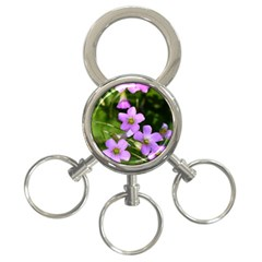 Little Purple Flowers 3 Ring Key Chains by timelessartoncanvas