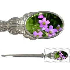 Little Purple Flowers Letter Openers by timelessartoncanvas