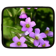 Little Purple Flowers Netbook Case (xxl)  by timelessartoncanvas