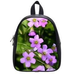 Little Purple Flowers School Bags (small)  by timelessartoncanvas