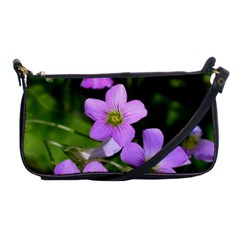 Little Purple Flowers Shoulder Clutch Bags by timelessartoncanvas