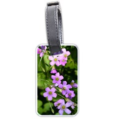 Little Purple Flowers Luggage Tags (One Side)  by timelessartoncanvas