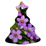 Little Purple Flowers Christmas Tree Ornament (2 Sides) Front