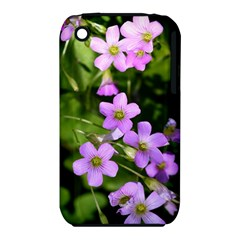 Little Purple Flowers Apple Iphone 3g/3gs Hardshell Case (pc+silicone) by timelessartoncanvas