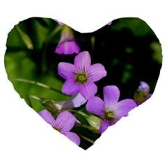 Little Purple Flowers Large 19  Premium Heart Shape Cushions by timelessartoncanvas