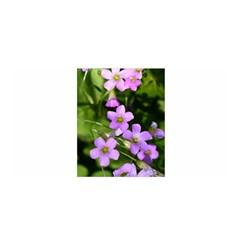 Little Purple Flowers Satin Wrap by timelessartoncanvas