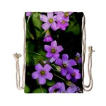 Little Purple Flowers Drawstring Bag (Small) Back