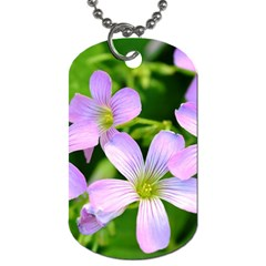 Little Purple Flowers 2 Dog Tag (two Sides) by timelessartoncanvas