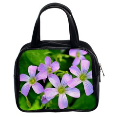 Little Purple Flowers 2 Classic Handbags (2 Sides) by timelessartoncanvas