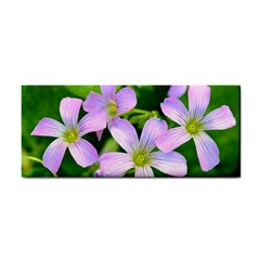 Little Purple Flowers 2 Hand Towel by timelessartoncanvas