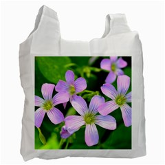 Little Purple Flowers 2 Recycle Bag (two Side)  by timelessartoncanvas