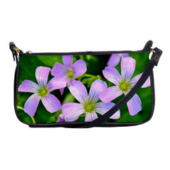Little Purple Flowers 2 Shoulder Clutch Bags by timelessartoncanvas