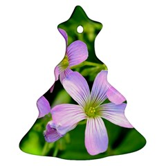 Little Purple Flowers 2 Christmas Tree Ornament (2 Sides) by timelessartoncanvas