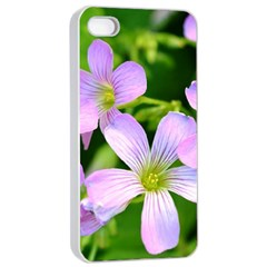 Little Purple Flowers 2 Apple Iphone 4/4s Seamless Case (white) by timelessartoncanvas