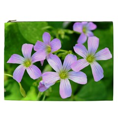 Little Purple Flowers 2 Cosmetic Bag (xxl)  by timelessartoncanvas