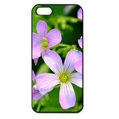 Little Purple Flowers 2 Apple Iphone 5 Seamless Case (black) by timelessartoncanvas