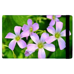 Little Purple Flowers 2 Apple Ipad 3/4 Flip Case by timelessartoncanvas