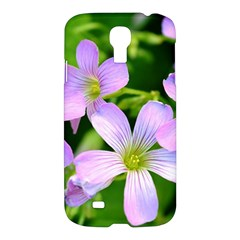 Little Purple Flowers 2 Samsung Galaxy S4 I9500/i9505 Hardshell Case by timelessartoncanvas