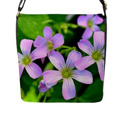 Little Purple Flowers 2 Flap Messenger Bag (l)  by timelessartoncanvas