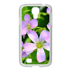 Little Purple Flowers 2 Samsung Galaxy S4 I9500/ I9505 Case (white) by timelessartoncanvas