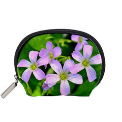 Little Purple Flowers 2 Accessory Pouches (small)  by timelessartoncanvas