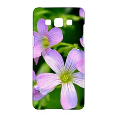 Little Purple Flowers 2 Samsung Galaxy A5 Hardshell Case  by timelessartoncanvas